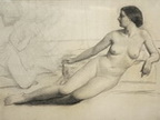 Partially Reclining Nude