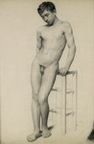 Youthful Nude Male Figure