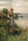 Girl At The Side Of The Lake